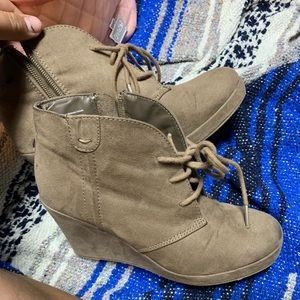 Suede Wedges